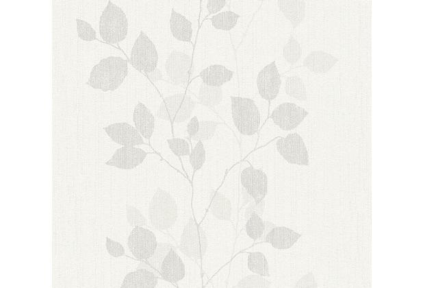 AS Création florale Mustertapete Happy Spring Vliestapete grau weiß 347611 10,05 m x 0,53 m