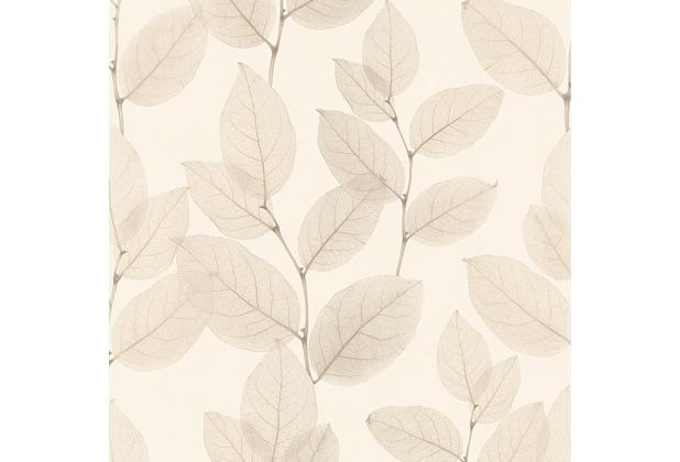 AS Création florale Mustertapete in Röntgen Optik X-Ray Vliestapete beige braun metallic 342471 10,05 m x 0,53 m