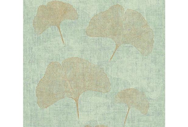 AS Création florale Mustertapete in Vintage Optik Borneo Tapete grün metallic 10,05 m x 0,53 m