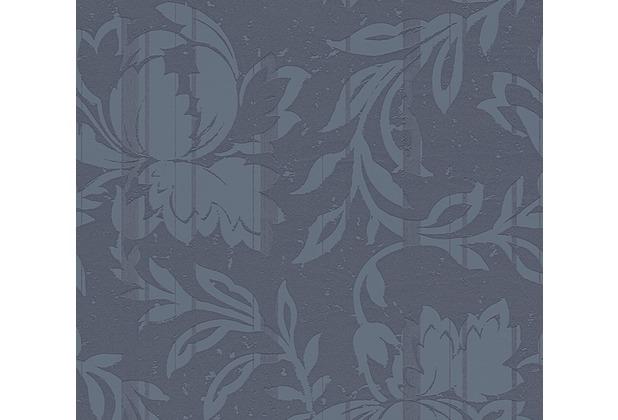 AS Création florale Mustertapete New Look Vliestapete blau grau 327905 10,05 m x 0,53 m