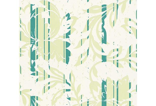 AS Création florale Mustertapete New Look Vliestapete creme grün 327903 10,05 m x 0,53 m