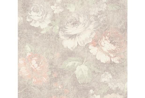 AS Création florale Mustertapete Secret Garden Tapete braun creme rot 336042 10,05 m x 0,53 m