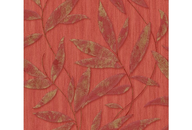 AS Création florale Mustertapete Siena Tapete metallic rot 328802 10,05 m x 0,53 m