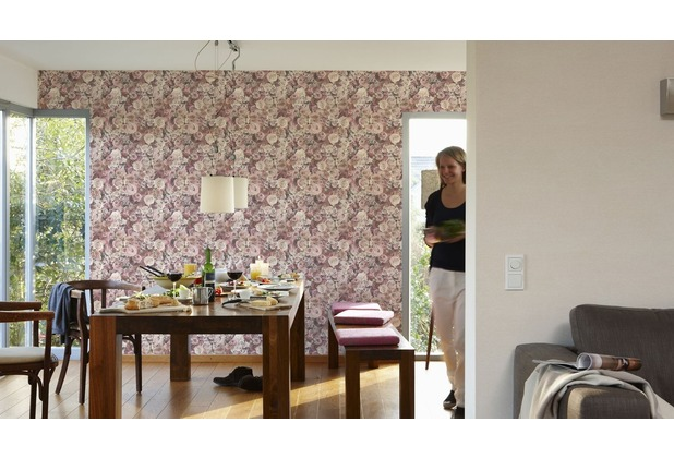 AS Création florale Mustertapete Urban Flowers Tapete creme 10,05 m x 0,53 m