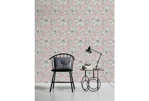 AS Création florale Mustertapete Urban Flowers Tapete grau rot schwarz 10,05 m x 0,53 m