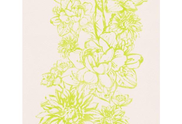 AS Création florale Mustertapete Vision Vliestapete creme grün 307065 10,05 m x 0,53 m