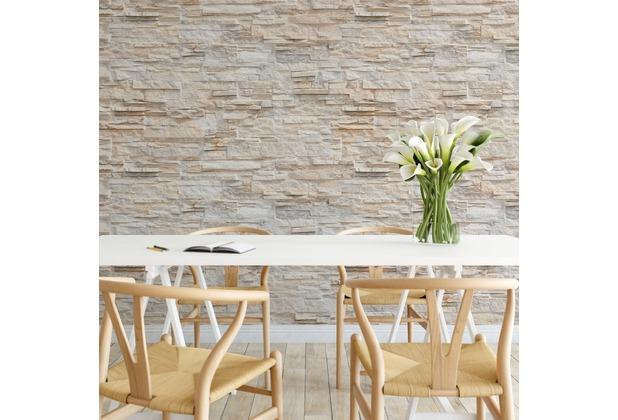 AS Création Fototapete Natursteinwand 130 g Vlies beige creme 3,36 m x 2,60 m
