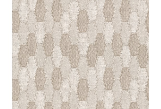 AS Création grafische Mustertapete Around the world Tapete beige 306931 10,05 m x 0,53 m