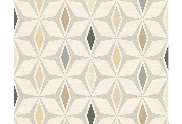 AS Création grafische Mustertapete Around the world Tapete braun grau weiß 304763 10,05 m x 0,53 m