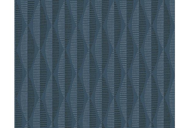 AS Création grafische Mustertapete Around the world Vliestapete blau grau 304174 10,05 m x 0,53 m