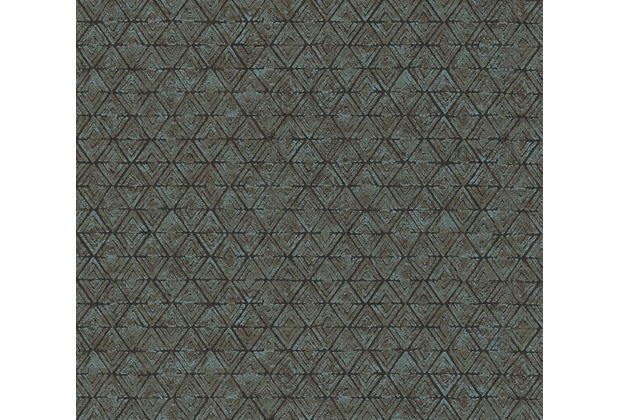 AS Création grafische Mustertapete in Vintage Optik Urban Life Tapete blau braun 327106 10,05 m x 0,53 m