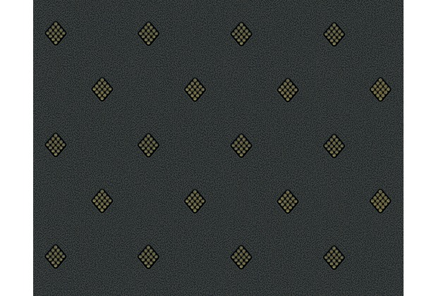 AS Création grafische Mustertapete New Orleans Strukturprofiltapete metallic schwarz 303192 10,05 m x 0,53 m