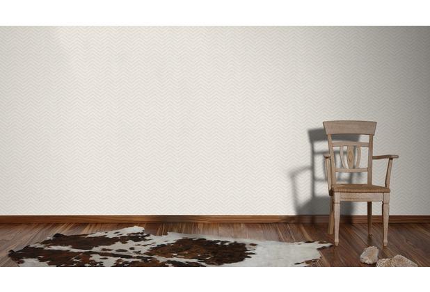 AS Création grafische Mustertapete Ökotapete Scandinavian Style beige metallic weiß 10,05 m x 0,53 m