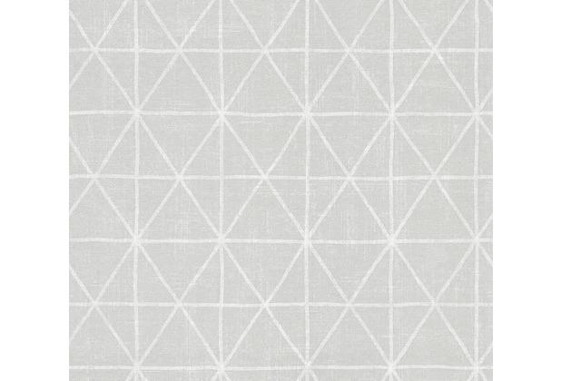 AS Création grafische Mustertapete Ökotapete Scandinavian Style grau metallic weiß 341378 10,05 m x 0,53 m