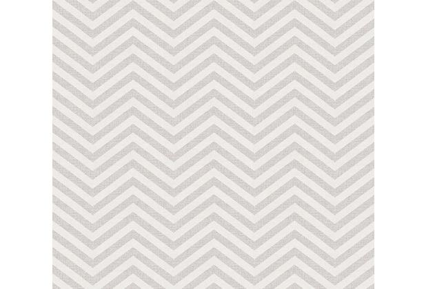 AS Création grafische Mustertapete Ökotapete Scandinavian Style grau metallic weiß 341393 10,05 m x 0,53 m