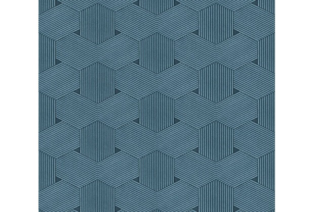 AS Création grafische Mustertapete Urban Life Tapete blau metallic 326595 10,05 m x 0,53 m
