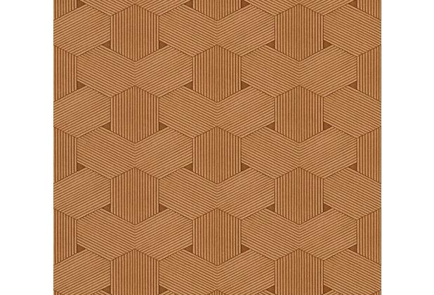 AS Création grafische Mustertapete Urban Life Tapete braun metallic 326596 10,05 m x 0,53 m