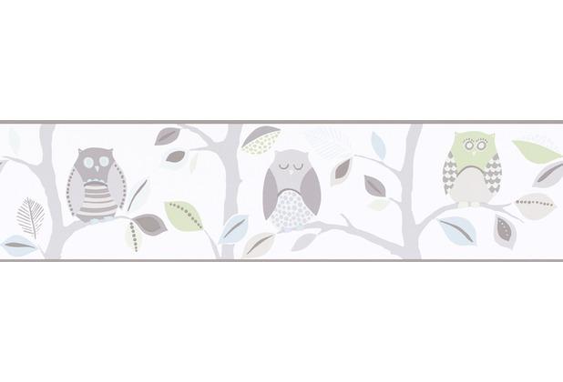 AS Création selbstklebende Bordüre Only Borders 9 beige bunt grün 895530 5,00 m x 0,13 m
