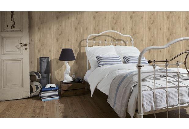 AS Création Mustertapete Best of Wood`n Stone, Vliestapete, beige, braun 10,05 m x 0,53 m