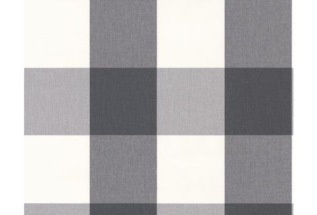 AS Création Mustertapete Black & White 3, Vliestapete, grün, weiß 206367 10,05 m x 0,53 m