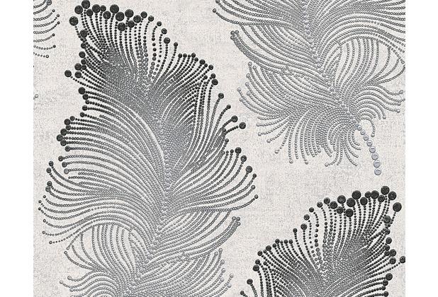 AS Création Mustertapete Bohemian Burlesque, Tapete, perlweiß, anthrazitgrau, 960456 10,05 m x 0,53 m
