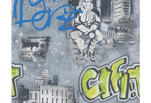 AS Création Mustertapete Boys & Girls 5, Papiertapete, bunt, schwarz, weiß 304682 10,05 m x 0,53 m