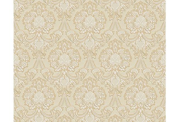 AS Création Mustertapete Concerto 2, Papiertapete, beige, metallic 310323 10,05 m x 0,53 m