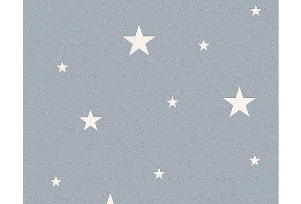 AS Création Mustertapete Day & Night glow in the dark Leuchttapete Vliestapete grau 324403 10,05 m x 0,53 m