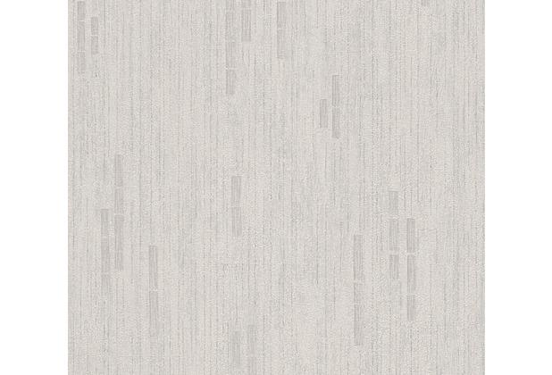 AS Création Mustertapete Essentials Vliestapete Tapete grau metallic 318501 10,05 m x 0,53 m