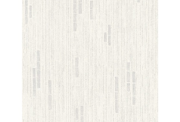 AS Création Mustertapete Essentials Vliestapete Tapete grau metallic weiß 318502 10,05 m x 0,53 m