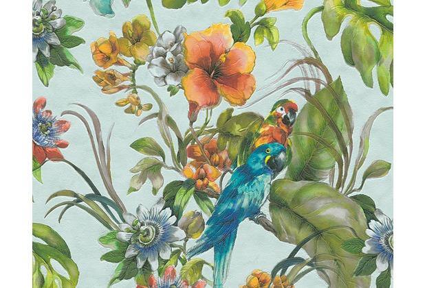 AS Création florale Mustertapete Simply Decor Tapete blau bunt 300152 10,05 m x 0,53 m