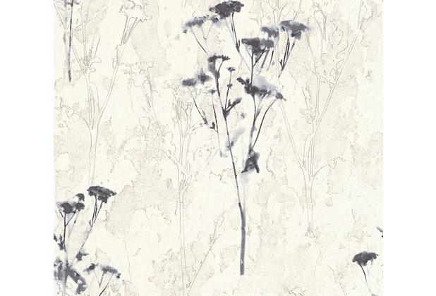 AS Création Mustertapete Free Nature Vliestapete grau weiß 10,05 m x 0,53 m