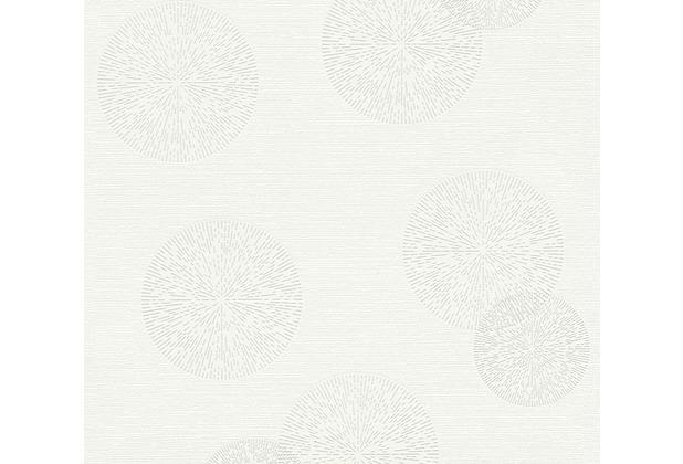 AS Création Mustertapete Happy Spring Vliestapete grau weiß 347711 10,05 m x 0,53 m