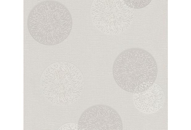 AS Création Mustertapete Happy Spring Vliestapete grau weiß 347712 10,05 m x 0,53 m