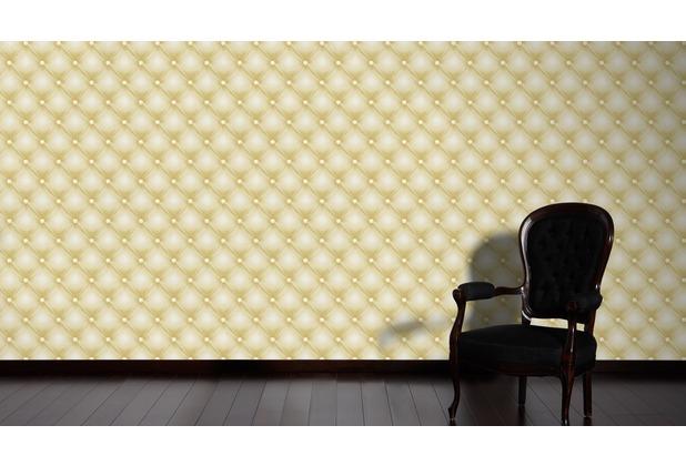 AS Création Mustertapete Hermitage 10 grün metallic weiß 10,05 m x 0,53 m