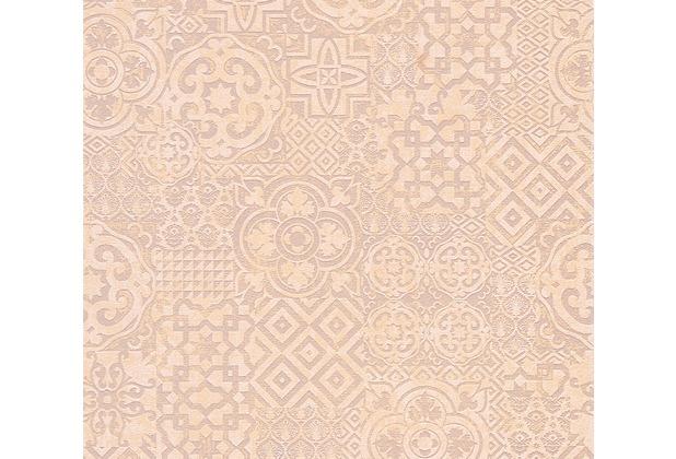 AS Création Mustertapete im Ethno-Look Happy Spring Vliestapete beige braun orange 341453 10,05 m x 0,53 m