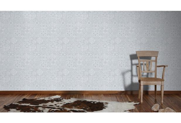 AS Création Mustertapete im Ethno-Look Happy Spring Vliestapete grau 10,05 m x 0,53 m
