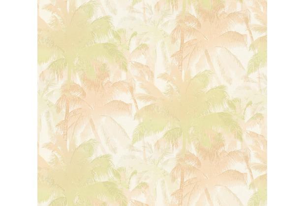 AS Création Mustertapete im Palmenprint Vacation Vliestapete beige grün metallic 343783 10,05 m x 1,06 m