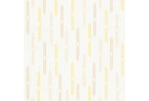AS Création Mustertapete im skandinavischen Stil Björn Vliestapete beige creme gelb 351193 10,05 m x 0,53 m
