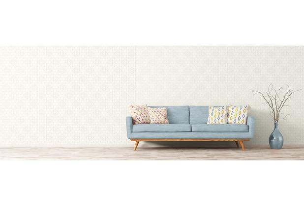AS Création Mustertapete im skandinavischen Stil Björn Vliestapete beige metallic weiß 10,05 m x 0,53 m