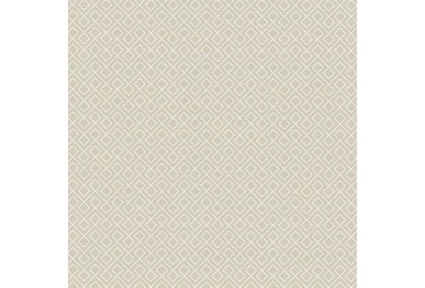 AS Création Mustertapete im skandinavischen Stil Björn Vliestapete beige weiß 351803 10,05 m x 0,53 m
