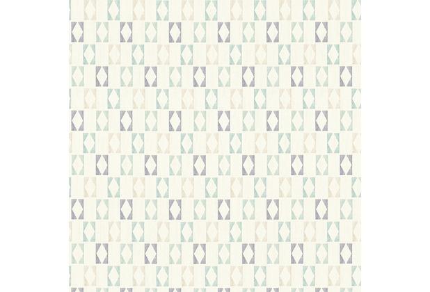 AS Création Mustertapete im skandinavischen Stil Björn Vliestapete blau grau weiß 351181 10,05 m x 0,53 m