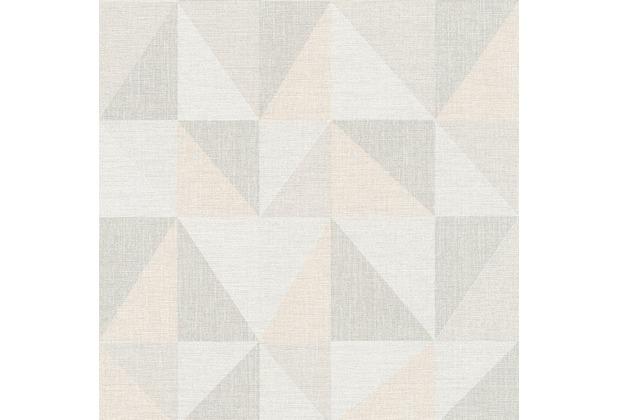 AS Création Mustertapete im skandinavischen Stil Björn Vliestapete creme grau rosa 351812 10,05 m x 0,53 m