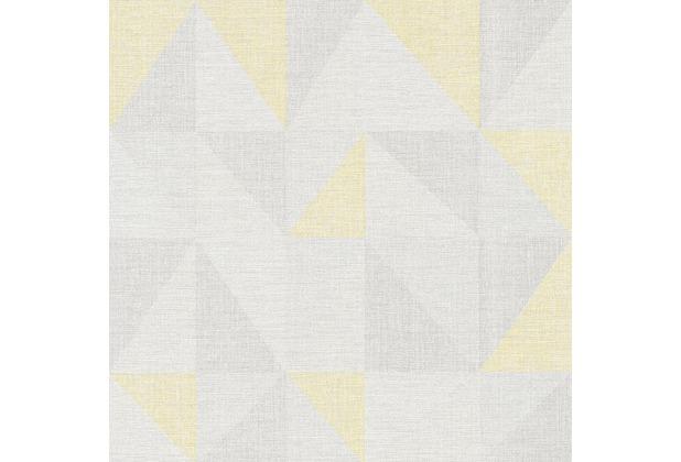 AS Création Mustertapete im skandinavischen Stil Björn Vliestapete gelb grau 351811 10,05 m x 0,53 m