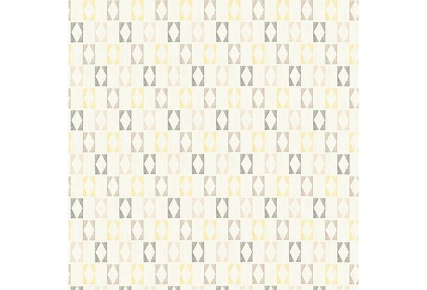 AS Création Mustertapete im skandinavischen Stil Björn Vliestapete gelb grau weiß 351184 10,05 m x 0,53 m