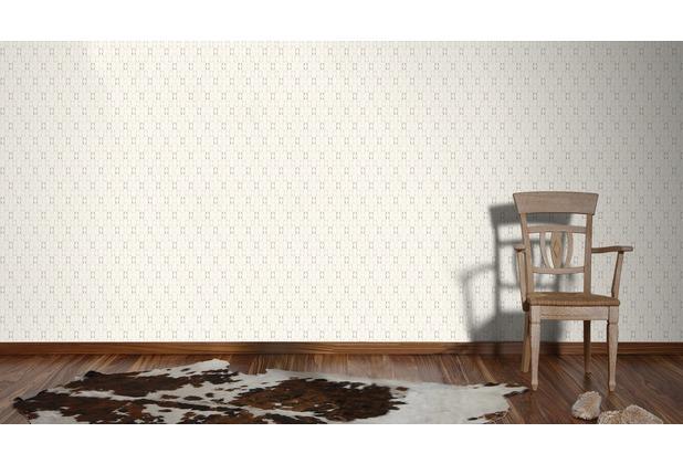 AS Création Mustertapete im skandinavischen Stil Björn Vliestapete grau orange weiß 10,05 m x 0,53 m