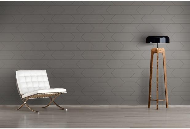 AS Création Mustertapete im skandinavischen Stil Björn Vliestapete grau schwarz 10,05 m x 0,53 m