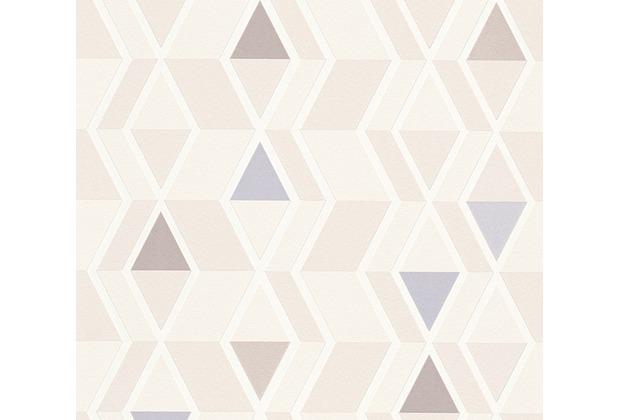 AS Création Mustertapete im skandinavischen Stil Happy Spring Vliestapete beige blau 343025 10,05 m x 0,53 m