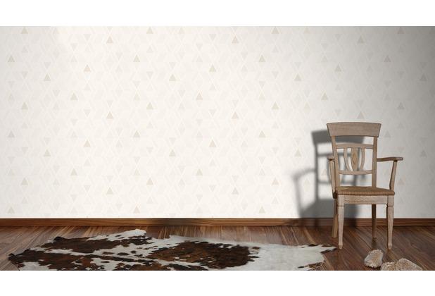 AS Création Mustertapete im skandinavischen Stil Happy Spring Vliestapete beige creme grau 10,05 m x 0,53 m