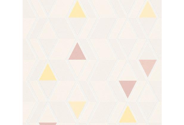 AS Création Mustertapete im skandinavischen Stil Happy Spring Vliestapete beige gelb 343024 10,05 m x 0,53 m